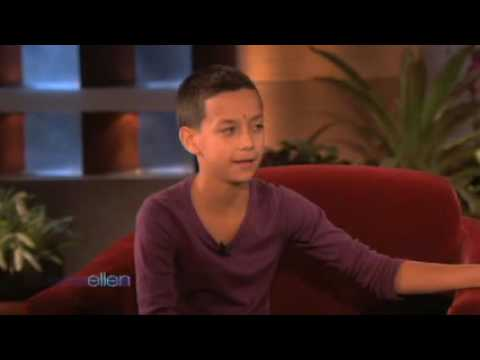 An Amazing 13 Year old Violinist, Justus Rivera on Ellen Music Videos