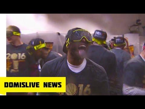 Lebron James Cavaliers Locker Room Celebration | NBA Finals Cavaliers vs Warriors Game 7