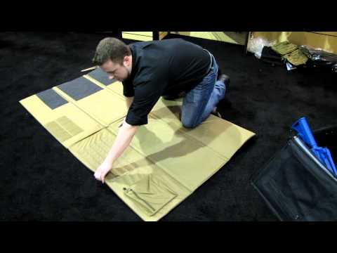 elite survival systems foldable shooters mat demo
