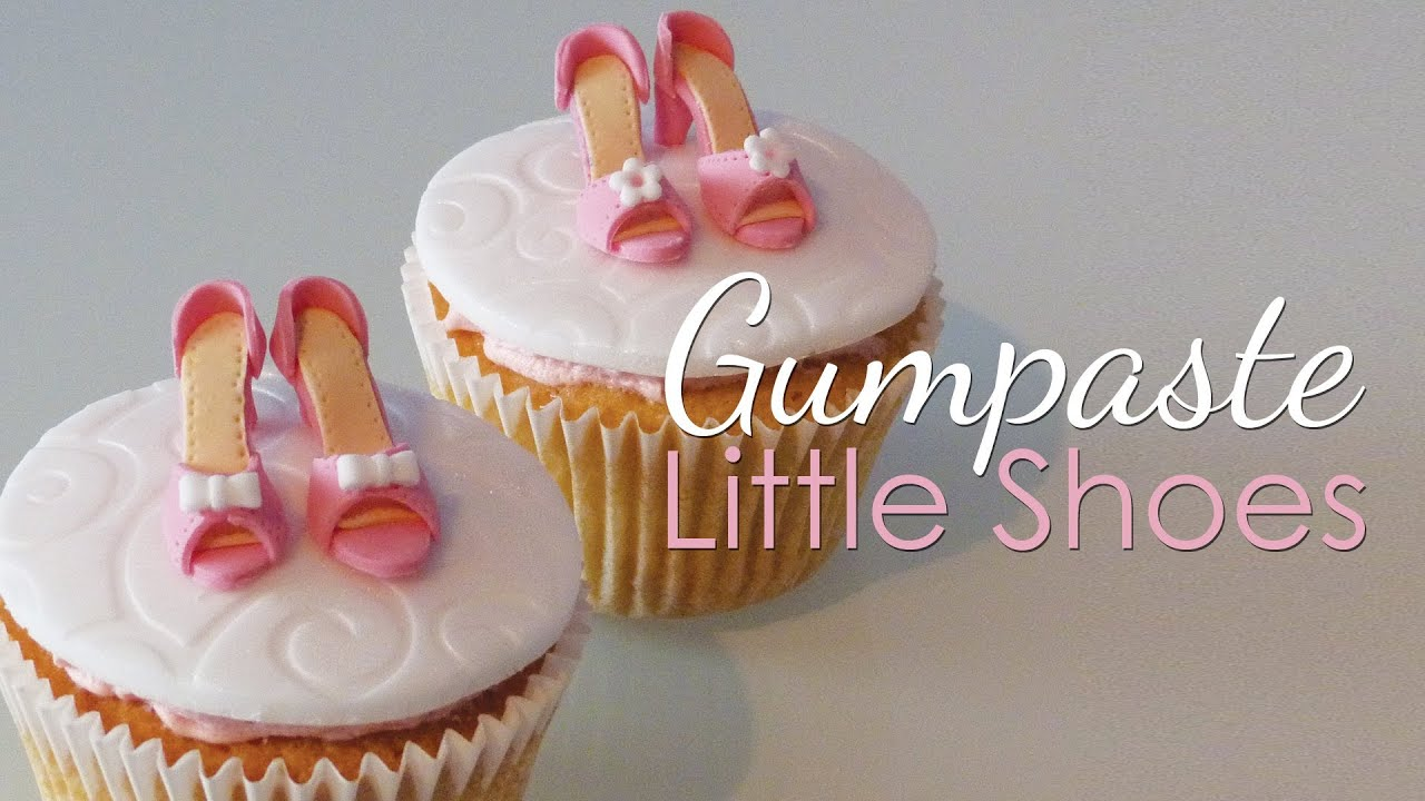 How To Remove Gum From Shoes >> Gumpaste Shoes For Cupcakes Tutorial - YouTube