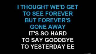 Boyz II Men Video - Boyz II Men - It's So Hard To Say Goodbye To Yesterday (Karaoke)