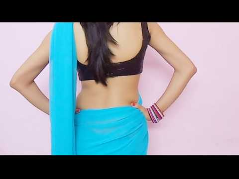 How To Wear Bollywood Saree Blouse-drape Sari Wraping Video low Waist Saari choli video