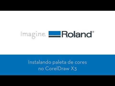 Instalando paleta de cores no CorelDraw X3