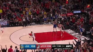 4th Quarter, One Box Video: Portland Trail Blazers vs. Golden State Warriors