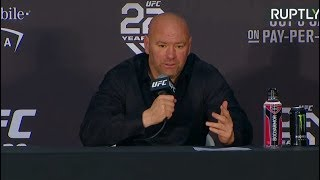 Dana White holds press conference in Las Vegas after Khabib-McGregor fight
