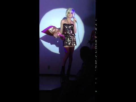 Romagaga desfilando com os Saltos 30 No Miss RN.