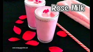 Rose Milk Recipe   How to make Rose Milk at home   Summer Drink Recipes