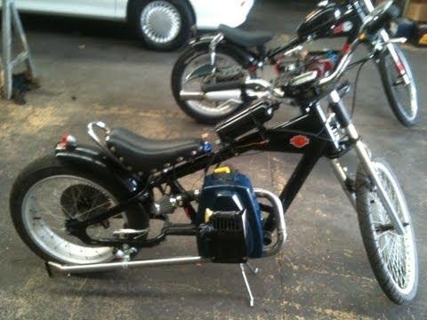 schwinn stingray chopper bike rat rod with victa lawn mower 125cc engine very fast