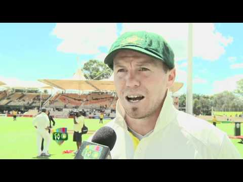 JAN 28th: Michael Clarke, Peter Siddle & Nathan Lyon post match