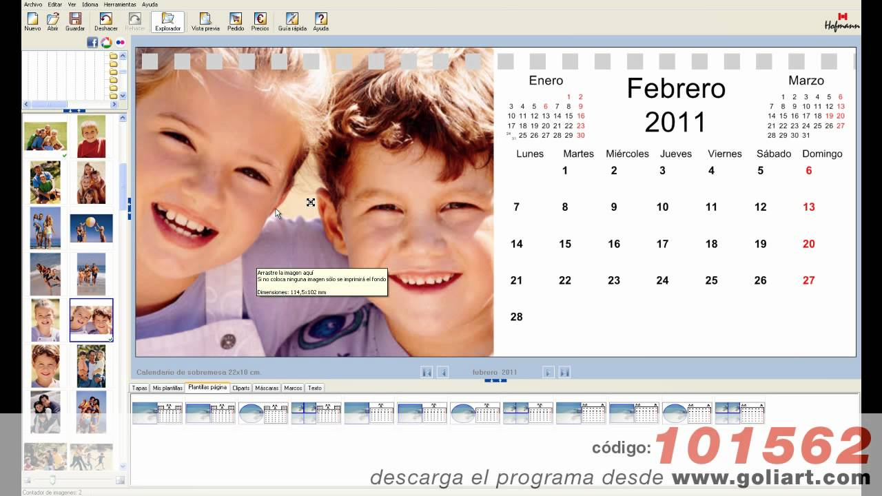 Calendarios personalizados 2014 como imprimir tus for Programa para amueblar cocinas gratis
