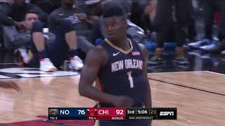 Zion Williamson Throws Down  SICK 360 Pelicans vs Bulls  2019 NBA Preseason
