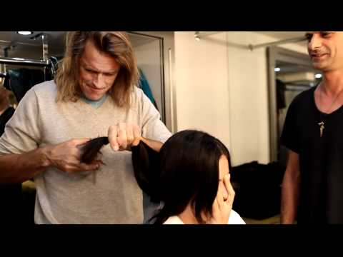 Adriana Lima gets a 'Russell James Salon' Haircut [HD]