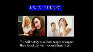 """The """"I WILL NOT"""" rule (I.W.N.) - How to deal with difficult people."""