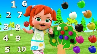Apple Tree Toy Set for Kids | Learning Colors & Numbers for Children with Little Baby Girl Fun Video