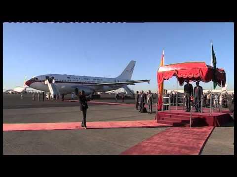 Llegada de S.M. el Rey a Etiopía para asistir a la 24 Cumbre de la Unión Africana
