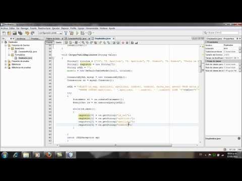 Aplicacion Java y MySQL, Netbeans - Parte5