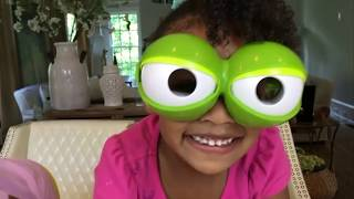 Family Fun Game for Kids! Fool the Frog + Disney Finding Dory  Toys!| Naiah and Eli Toys Show