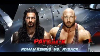 WWE GAME PLAY Ryback vs Roman Reigns