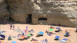 Praia do Carvalho Carvoeiro Lagoa Algarve (HD)