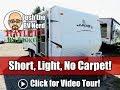 2007 KZ Jag 19ft No Slide Carpetless Couple's Camping Travel Trailer