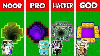 Minecraft - NOOB vs PRO vs HACKER vs GOD : FAMILY SECRET TRAPS in Minecraft Animtion