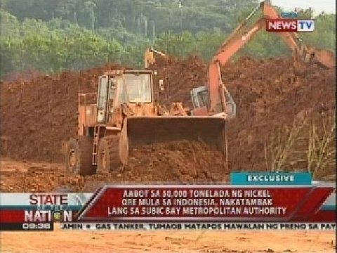 Aabot sa 50,000 tonelada ng nickel ore mula sa Indonesia, nakatambak lang sa SBMA