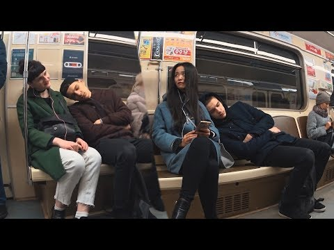 ПРАНК: СПИТ На Людях В МЕТРО 2 | Sleeping on Strangers in the Subway 2