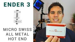 Ender 3 Micro Swiss all metal hot end