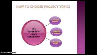 How to choose final year project topic in any branch of engineering ?