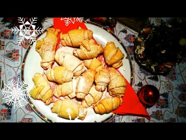 Рогалики с белковым кремом. Рецепт от любимой мамы//Bagels