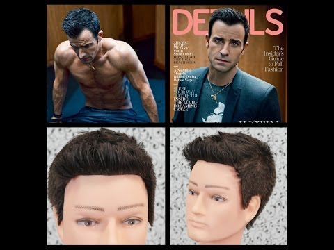 Justin Theroux - Details Mag Cover Haircut Tutorial