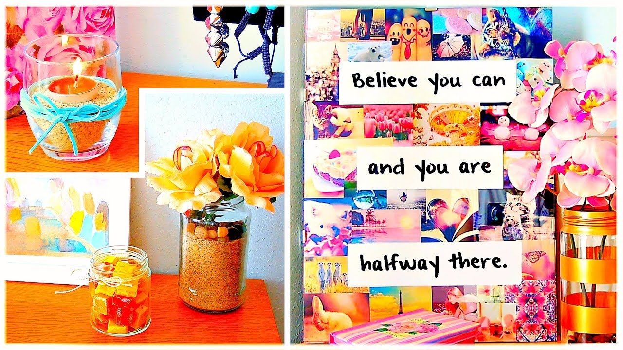 Diy room decor wall art cheap cute projects and more for Art and craft ideas for room decoration