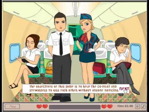 เกมส์ผ่านด่าน เกมส์จูบบนเครื่องบิน เล่นเกมส์