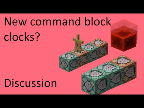 A Better Way to Make Command Block Clocks? - Minecraft Discussion