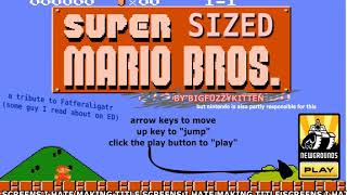 Blue Kirby is playing super sized Mario Bros