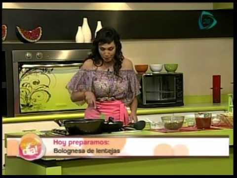 Recetas vegetarianas: Bolognesa de lentejas