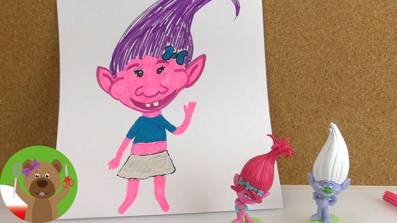 Malowanie & Rysowanie dla dzieci | malowanie Trolli