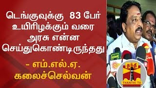 What Govt Has Done Till 83 People Died Of Dengue..? MLA Kalaiselvan Questions