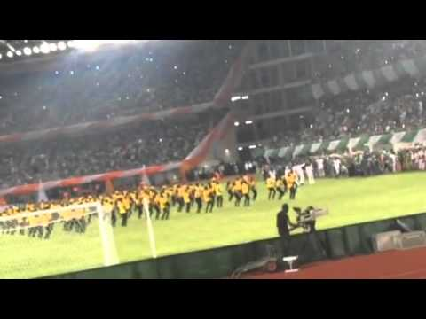 Mavins performing Dorobucci in Uyo Sport Stadium