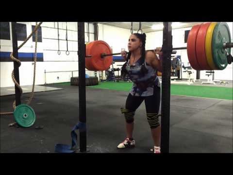 Kara Bohigian Smith 315x4 Back Squat Workout - 6 sets of 4 up to 315lb Image 1