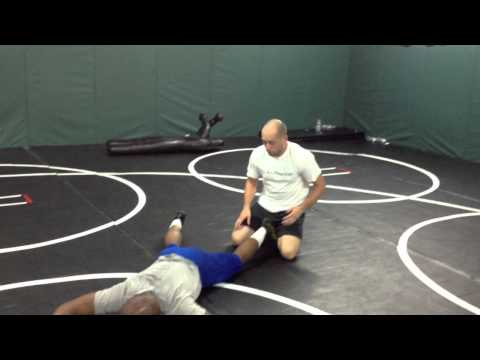 Freestyle Wrestling Top Move - Ankle lace Image 1
