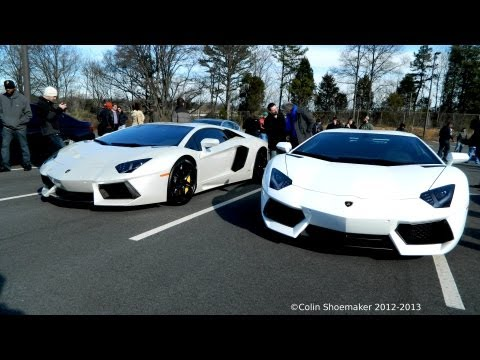 Underground Racing Twin Turbo Lamborghini Aventador and Twin turbo Ferrari 458 Italia.