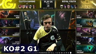 CG vs RYL - Game 1 | Knockouts Play-Ins S9 LoL Worlds 2019 | Clutch Gaming vs Royal Youth G1