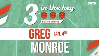 3 In The Key: Greg Monroe - Swish Analytics
