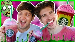 TASTING THE STARBUCKS ZOMBIE FRAPPUCCINO!