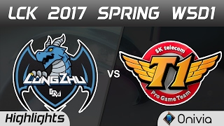 LZ vs SKT Highlights Game 3 LCK Spring 2017 W5D1 Longzhu vs SK Telecom T1