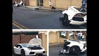 Lamborghini Aventador Crash Split in Half