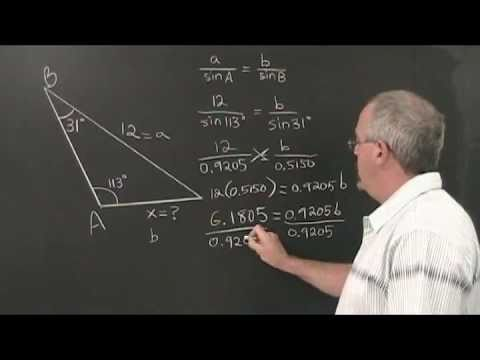 how to find an angle with sine law