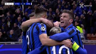 Champions League 19.02.2020 / HIGHLIGHTS FR / Atalanta BC - Valencia CF