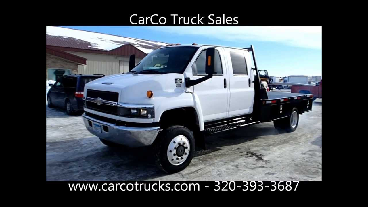 Chevrolet C4500 4x4 Crew Cab Flatbed For Sale by CarCo ...